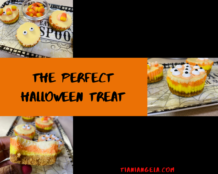 The Perfect Halloween Treat | Mini Candy CornCheesecakes