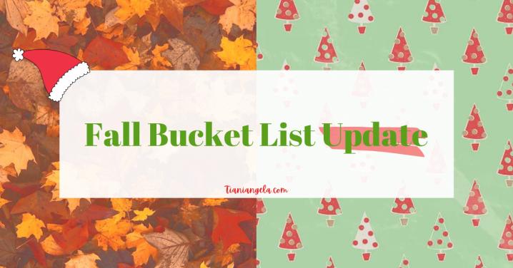 Fall Bucket List Update | Blogmas Day 2